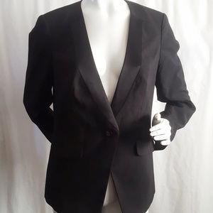 Apostrophe Black Blazer Suit Jacket One Button 10